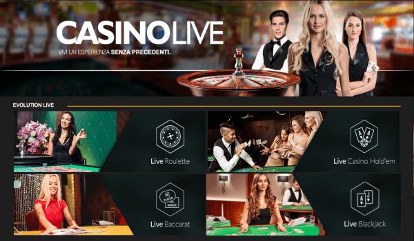 Casino Live NON AAMS (ADM) - Giochi con Croupier dal vivo